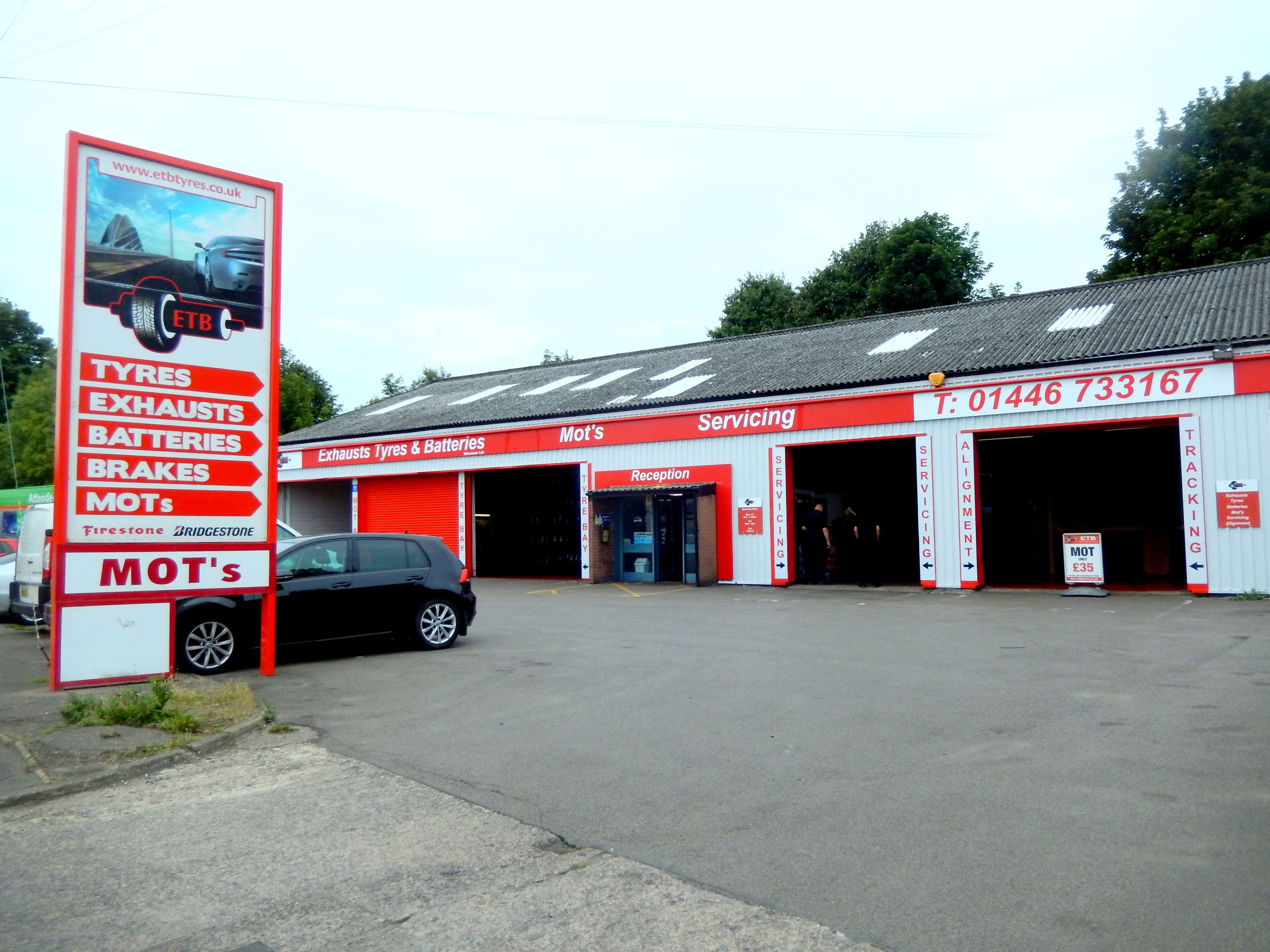 Exhausts Tyres and Batteries in Worcester